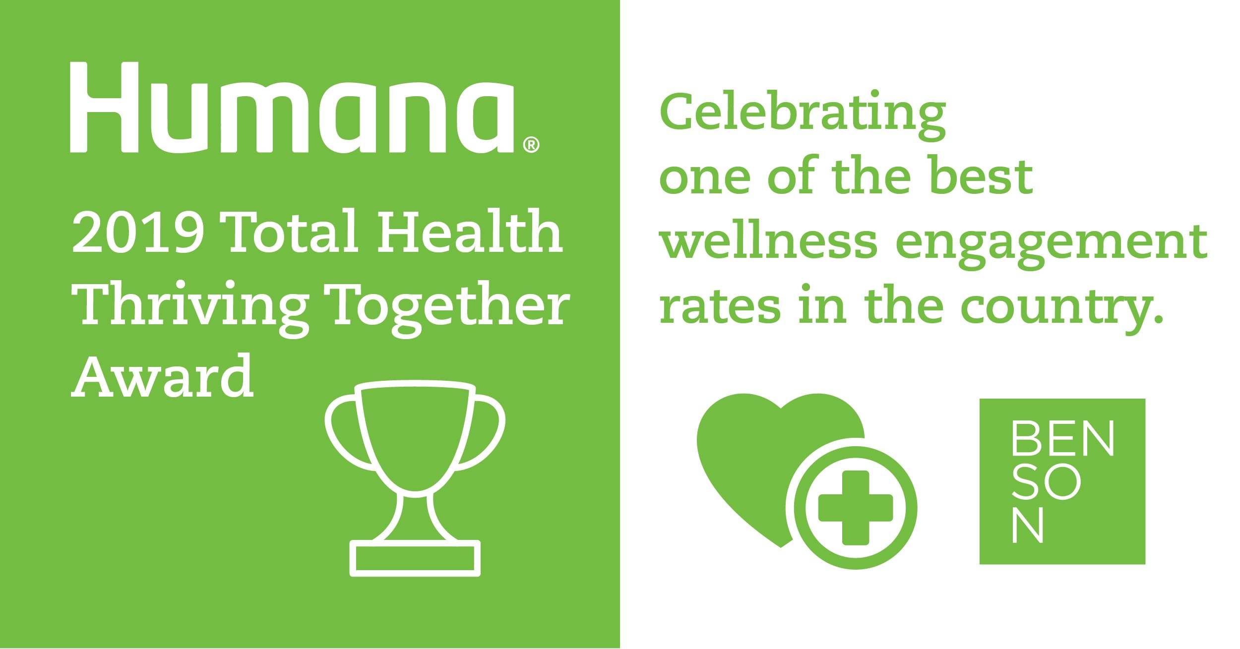 Humana Honors Benson with Top Wellness Award