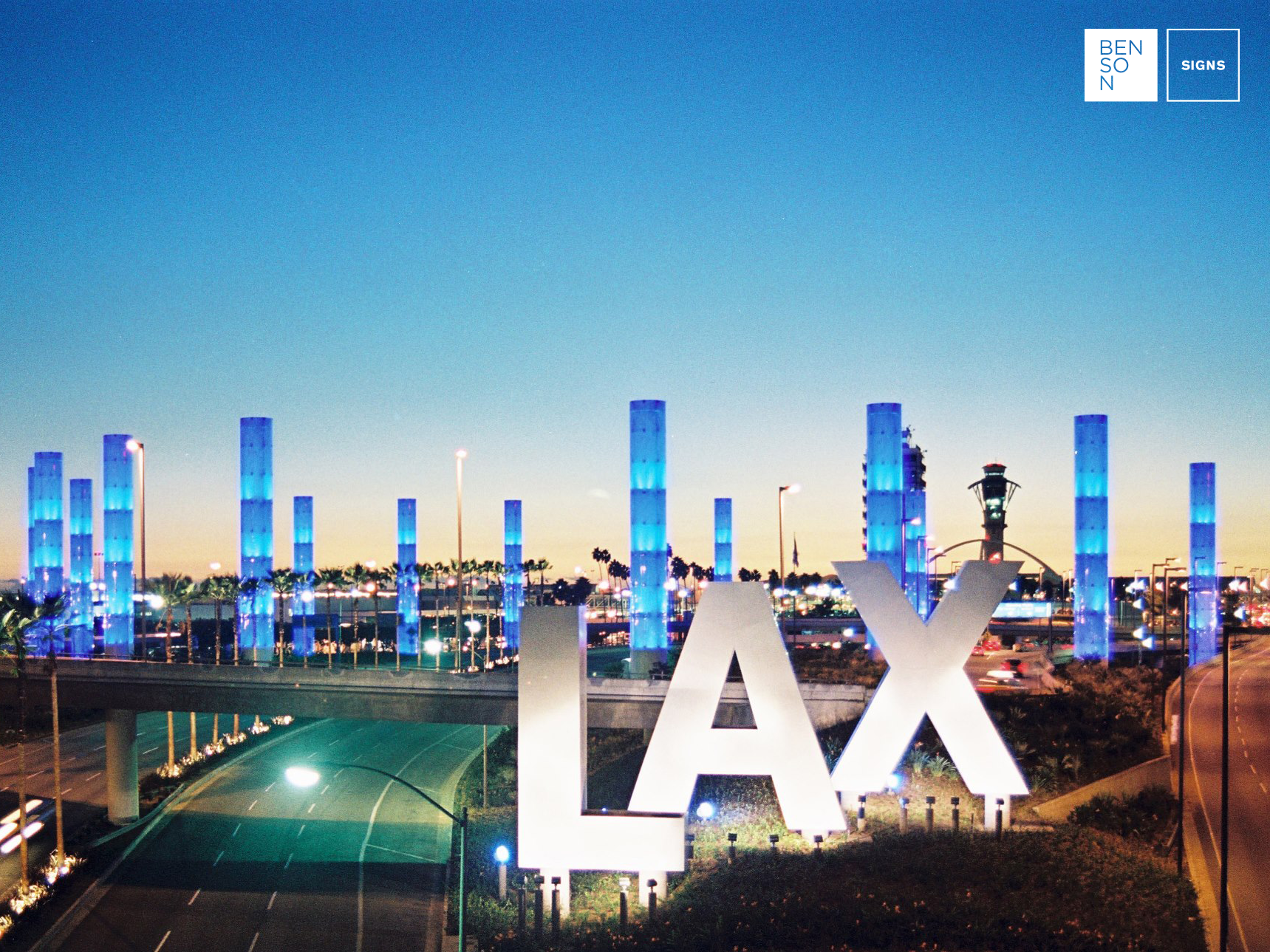 Benson Signs Selected as Supplier for LAX Project